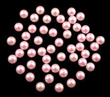 Halbperlen rund 8 mm rosa 50 Stück (lose Halbperlen)