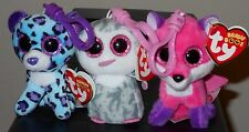 """Ty Beanie Boos Clip Set - Joey, Lizzie & Olive - 3"""" Claire's Exclusives - NEW"""