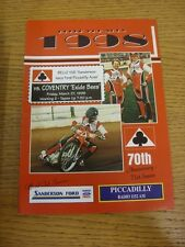 27/03/1998 SPEEDWAY programma: BELLE VUE Aces V COVENTRY LE API [Star Cup] (risultato