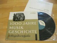 LP  1000 Jahre Musik Geschichte 4. Folge Knepler  Vinyl Eterna DDR 8 20 350