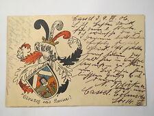 Kassel - Verbindung Olympos - 1906 - Wappen / Studentika