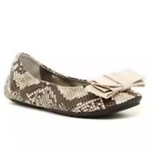 Me Too Leah NR Snake Print Leather Women Ballet Flat Size 7.5M 1775
