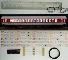 5 Stück 200mm LED Waggon Innenbeleuchtung Kaltweiß Bausatz Analog/Digital C3214