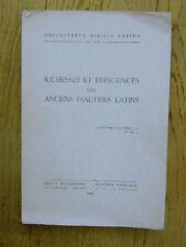 collectanea biblica latina:Richesses et déficiences des anciens psautiers latins