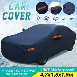 Full Car Cover Waterproof Sun UV Rain Dust Resistant Protection Dark Blue 4.7m