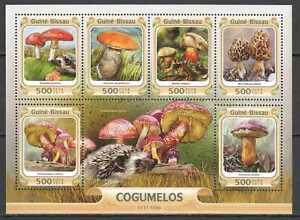 L1511 2016 GUINEA-BISSAU MUSHROOMS FLORA PLANTS COGUMELOS 1KB MNH STAMPS