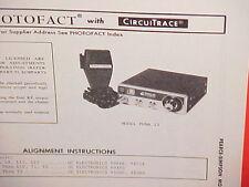 1972 PEARCE-SIMPSON CB RADIO SERVICE SHOP MANUAL MODEL PUMA 23