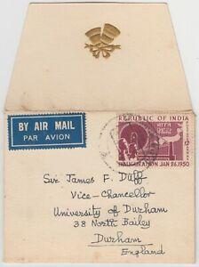 INDIA 1950 *WEDDING invitation* cover LUCKNOW-vice chancellor UNIVERSITY DURHAM