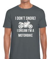 I DON'T SNORE MOTORBIKE MENS T SHIRT FUNNY MOTORCYCLE DESIGN MOTOCROSS FAN GIFT