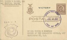 PHILIPPINES 1945 VICTORY POSTAL CARD TO WASHINGTON USED