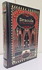 DRACULA AND OTHER HORROR CLASSICS by Bram Stoker ~ NEW ~ SEALED ~ LEATHER BOUND~