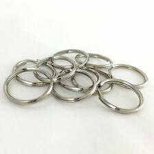 "Nickel Plated Key Ring (1-1/4"", 1"", 3/4"")"
