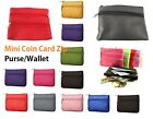 Men Women Genuine Leather Card Coin Key Holder Zip Wallet Pouch Bag Purse colrCn