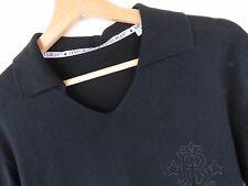 J2219 LEVI'S Azul Polo de Punto Top Cotton-Silk Original Premium TALLA S