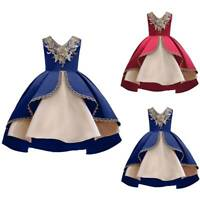 Girls Kids Princess Wedding Bridesmaid Dresses Pageant Party Dress Gown Formal