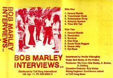 BOB MARLEY INTERVIEWS. Tuff Gong Cassette. Jamaica.