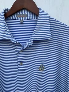 PETER MILLAR Southern Comfort Polo Golf Shirt Mens Extra Large Striped XL Navy