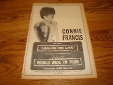 CONNIE FRANCIS 1964 ad for MGM'S 'Looking For Love' & her World Wide TV Tour