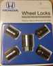 Genuine Honda Wheel Lock Set OEM! NEW! 08W42-SNA-100