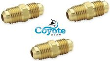 """Made in USA, 3 Pack: 3/8"""" Flare Hex Male Union Brass Fitting Fuel Gas Air Parker"""