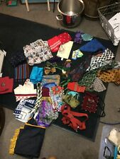 COLLECTION OF VINTAGE SCARFS GLOVES CRAVATS HANDKERCHIEFS TOOTAL SAMMY AND MORE
