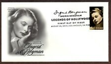 2015 INGRID BERGMAN~LEGEND OF HOLLYWOOD STAMP - ART CRAFT CACHET~FIRST DAY COVER