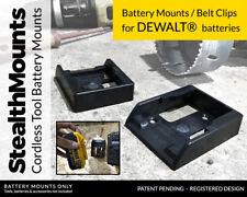 10x BATTERY MOUNTS for DeWalt 18v Storage Shelf Rack Stand Holder Slots Van Case