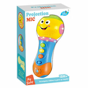 Toy Projection Music Microphone Light Up Musical Instruments Baby Kids Gift NEW