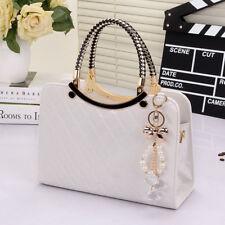 Ladies Black Leather Handbag New Tote Designer Style Celebrity Shoulder Bag UK