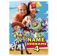 Personalised Toy Story, Photo, Name & Age A5 All Occasions Card