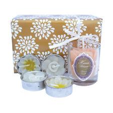 White Rose Candle Votive & Flower Tealight Gift Box Set/Jasmine Scented