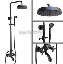 NERO olio strofinato bronzo Wall-mount BAGNO E VASCA rain-style doccia rubinetto Set trs456