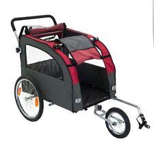 Large Dog Bike Trailer Pushchair Carrier Stroller Jogging Kit Pet Bicycle Ride !