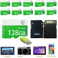 64GB 32GB 16GB Micro TF Flash Memory SD Card For Camera Cell Phone Free Adapter