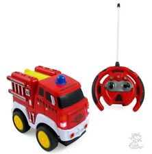 R/C Fire Engine Truck Radio Control Toy Car for kids with Steering Wheel Remote