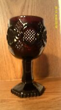 Vtg Avon 1876 Cape Cod Ruby Red Wine Glass/Goblet-NO BOX-4 Available-FREE SHIP