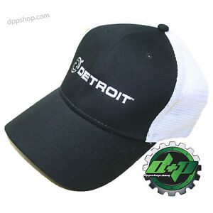 S/M detroit diesel fitted ball cap semi trucker hat gear mesh flex fit stretch