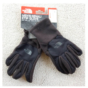 The North Face Mens Denali Etip Gloves Black Touchscreen Compatible S New