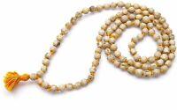Tulsi / Holy Basil Mala 108 +1 Bead knotted Real Gebet Natürlicher Rosenkranz