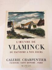 VLAMINCK Affiche en Lithographie Galerie Charpentier 1956