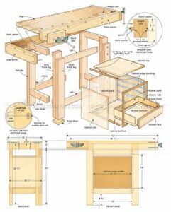 Carpenter WoodworkWorkbench 5 Dvd Blueprints Cabinet Shelve Encyclopedia Of Wood