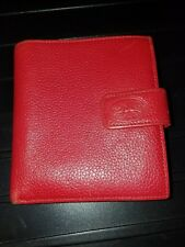 LONGCHAMP Ladies RED Leather Bifold Wallet -- 100% AUTHENTIC