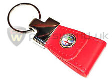 New, Quality Genuine Alfa Romeo Merchandise accessories Red Leather Keyring