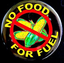 ANTI ETHANOL - NO FOOD FOR FUEL BUTTON 1970'S - ORIGINAL PINBACK RARE