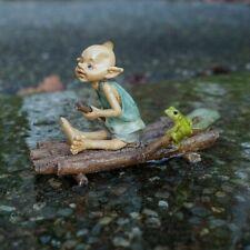 Miniature Fairy Garden Pixie Rowing Raft w/ Frog - Buy 3 Save $5