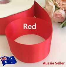 High Quality Satin Car Ribbon 50mm X 10 Meters Wedding Double Faced Red