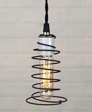 Bed Spring Hanging Pendant Light Primitive Vintage Country Farmhouse Steampunk