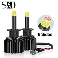 8-sides 360° H1 CSP LED Headlight Bulbs Kit 100W 15000LM High Beam 6000K White