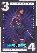 PINNACLE BAP BE A PLAYER 1997 BRYAN BERARD NHL NY ISLANDERS TAKE A NUMBER #TN9