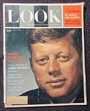1961 May 9 LOOK Magazine GD+ 2.5 John F Kennedy JFK / Jerry Lewis